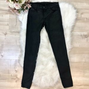 J Brand Black Shiny 'Super Skinny' Jeans Size 24